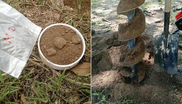 Muestreo de suelos en estudio de suelos para fundaciones en Córdoba. Geoestudios