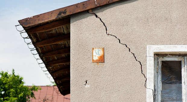 grieta en paredes