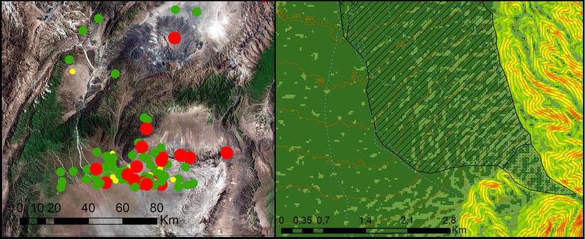 mapa geomorfológico, DEM, mapa de sismicidad