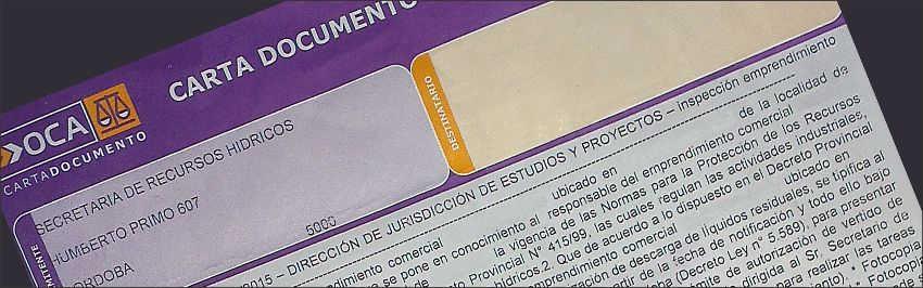 notificación, Decreto 847, ensayo de absorción, efluentes