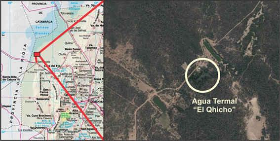 El Quicho, ubicación. Geoestudios